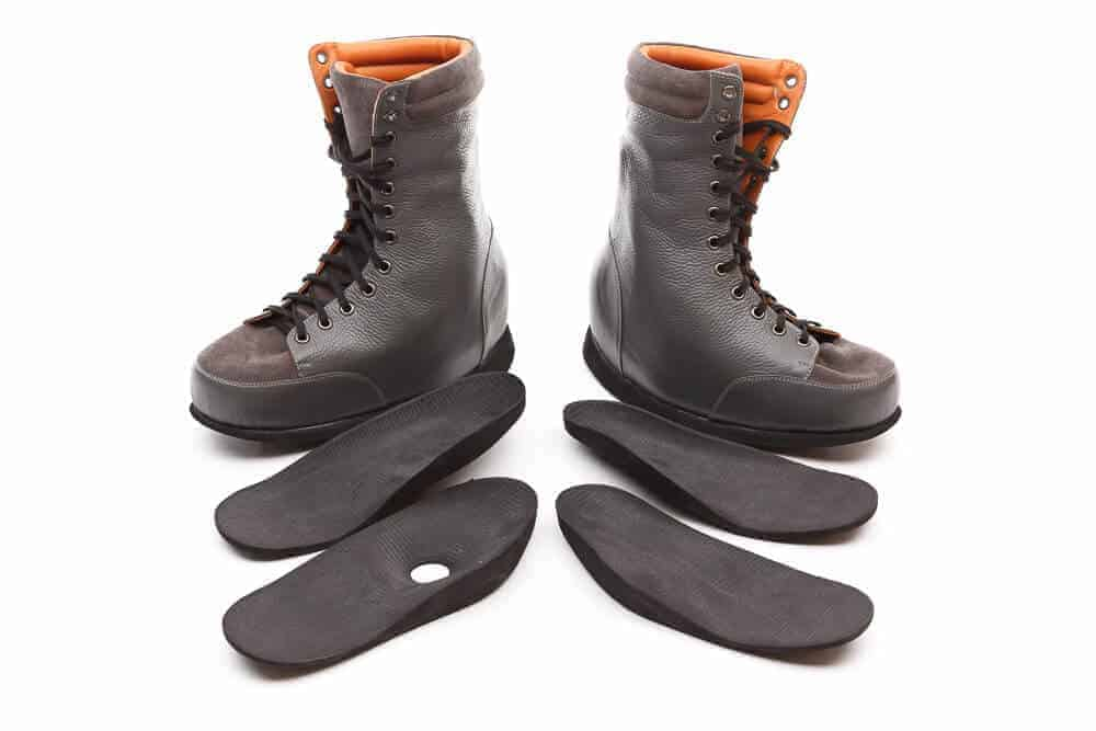 Custom Footwear Grey Boots with customised insoles