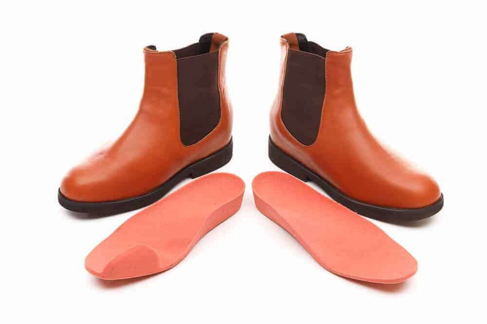 Custom Footwear Brown boots with customised insoles