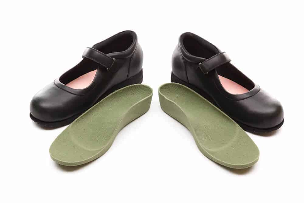 Custom Footwear Black open shoes with customised insoles