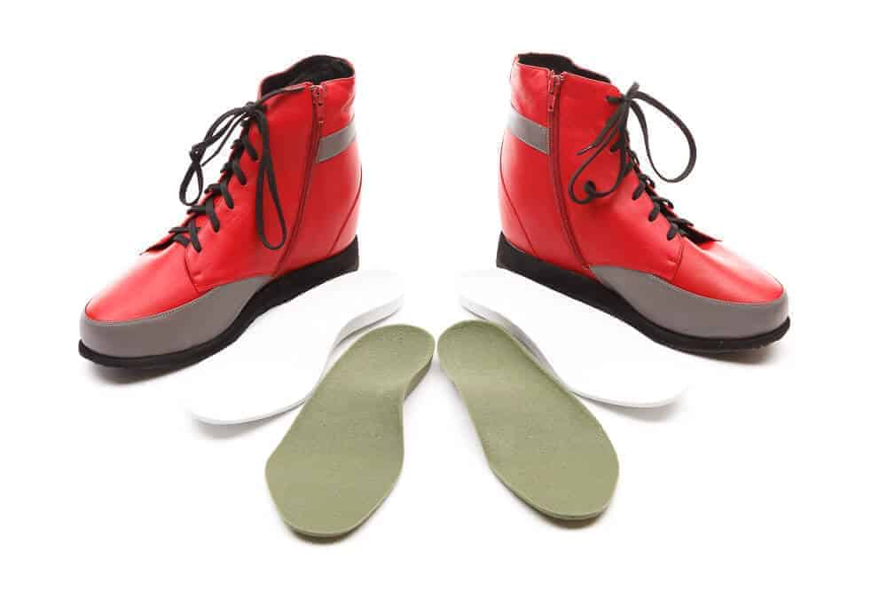 Custom Footwear High cut red boots with customised insoles