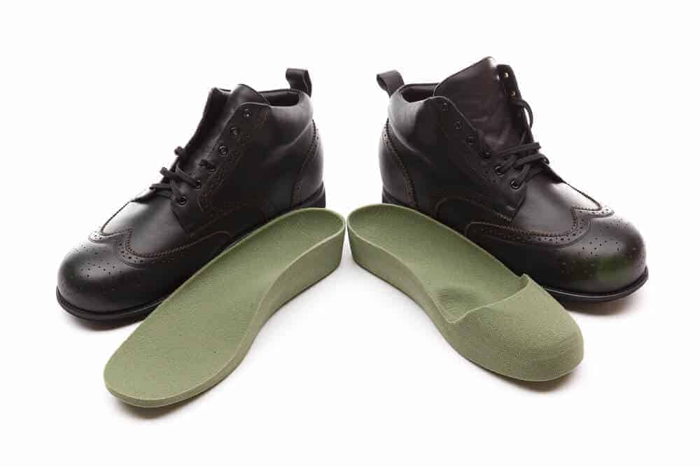 Custom Footwear Black Boots with green customised insoles