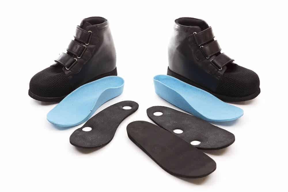 Custom Footwears Black shoes with black and blue customised insoles