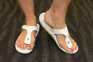 Custom White Orthotic Sandals