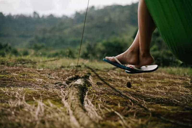 a person wearing flip flops