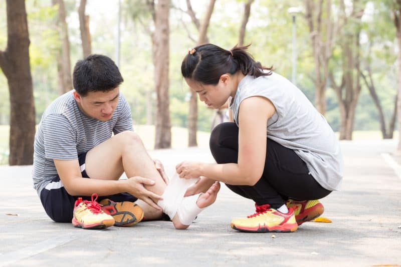 ankle sprain is one of the common running injuries
