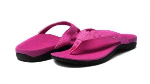 pink orthotic sandals