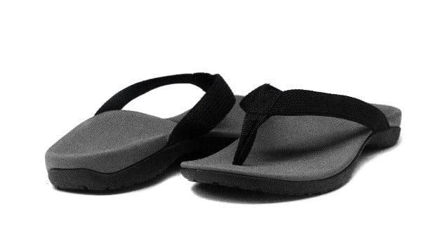 grey orthotic sandals