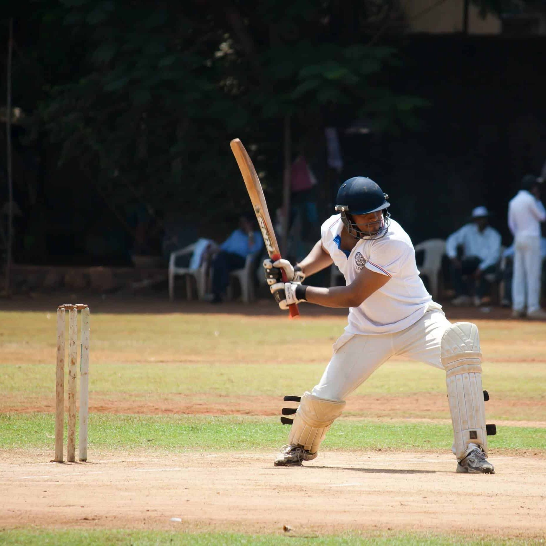 A Cricket Player in position
