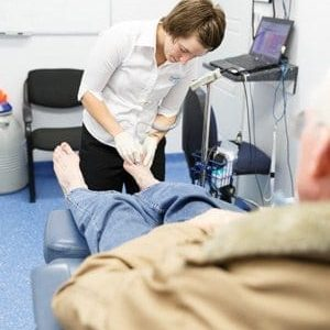 Diabetic Foot Check being carried out