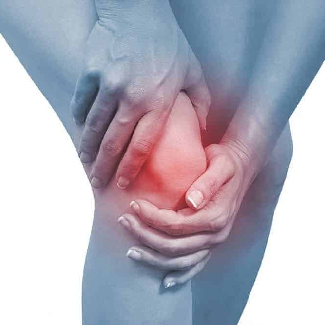 Anterior Knee Pain marked in red flash