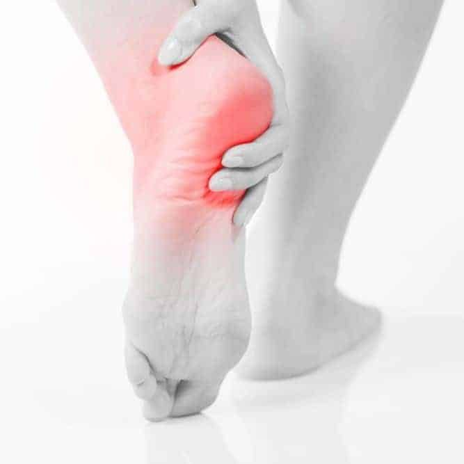 backview of heel pain