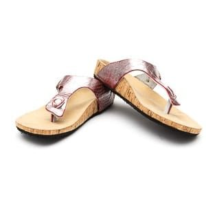 Cork Pink Strap Sandals
