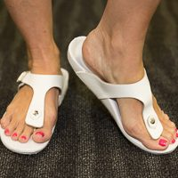 Custom White Orthotic Sandals