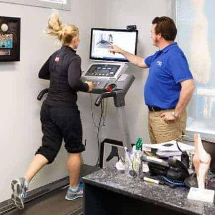 MyFootDr-Jodie fields on a Treadmill for video gait analysis