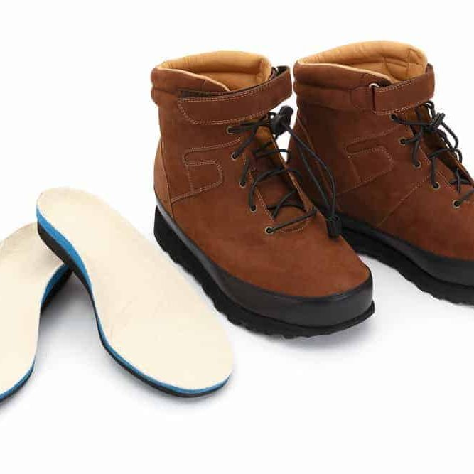 Brown Suede Boots With Orthotics customised insole